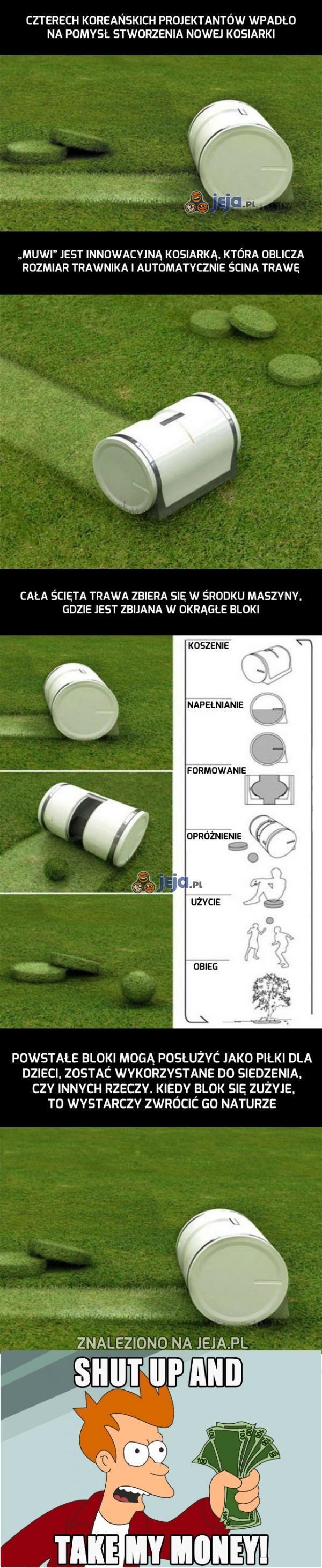 Innowacyjna kosiarka