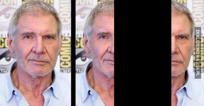 Harrison Ford jest uśmiechnięty i zły jednocześnie