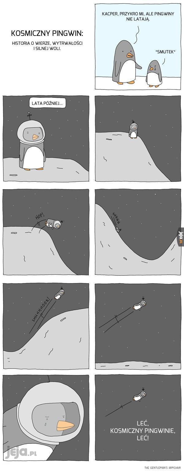 Do zobaczenia gdzieś tam, kosmiczny pingwinie!