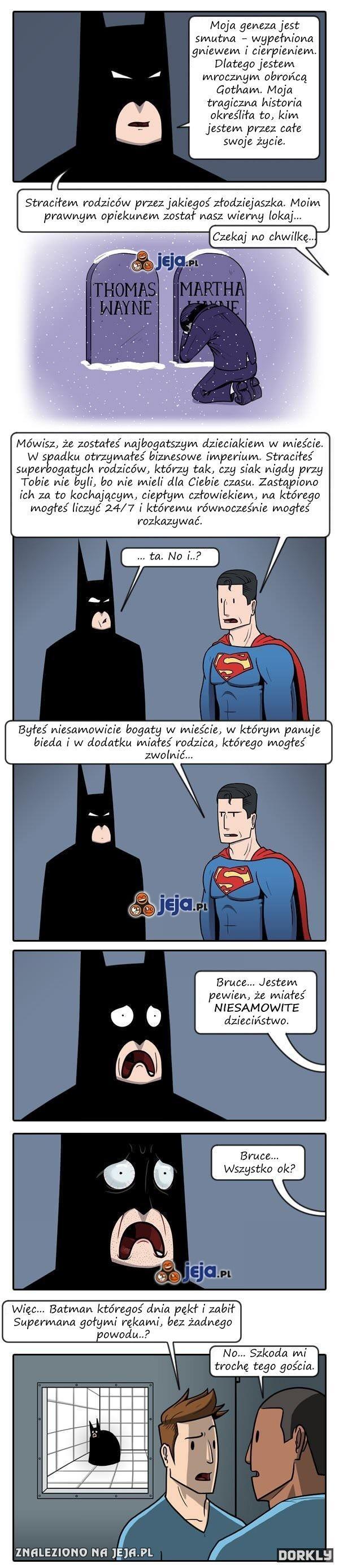 Batman nie miał takiego złego dzieciństwa
