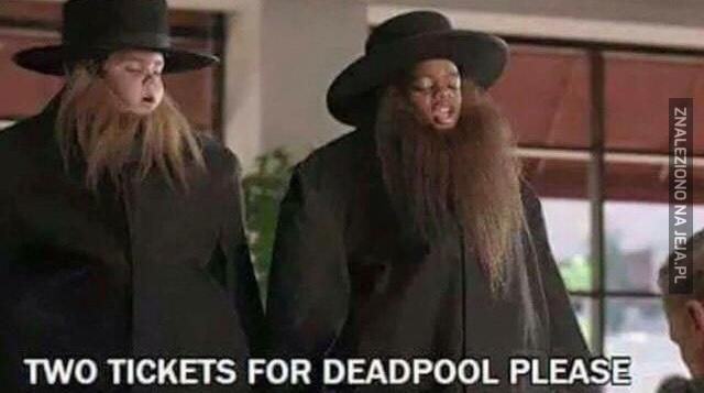 Dzieciaki chcące wejść na nowego Deadpoola