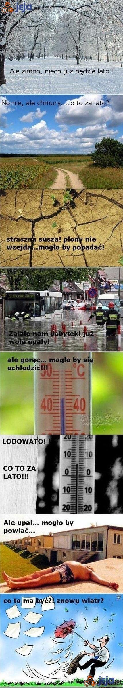 Pogoda - Nie dogodzisz...