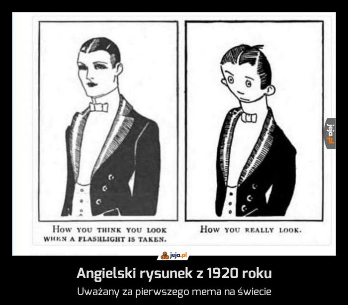 Angielski rysunek z 1920 roku