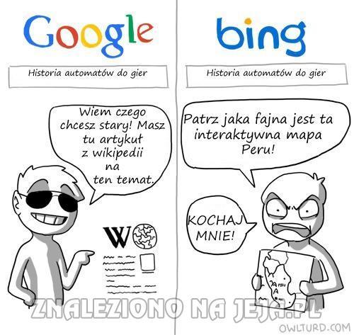 Google kontra inne wyszukiwarki