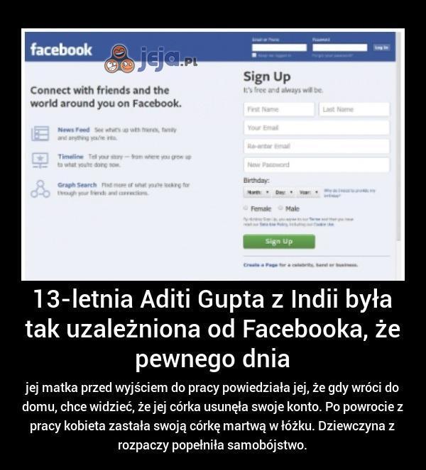 Facebook uzależnia...
