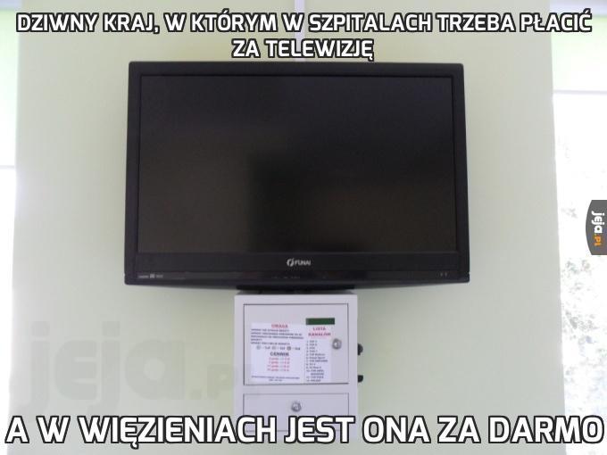 Dziwny kraj, w którym w szpitalach trzeba płacić za telewizję