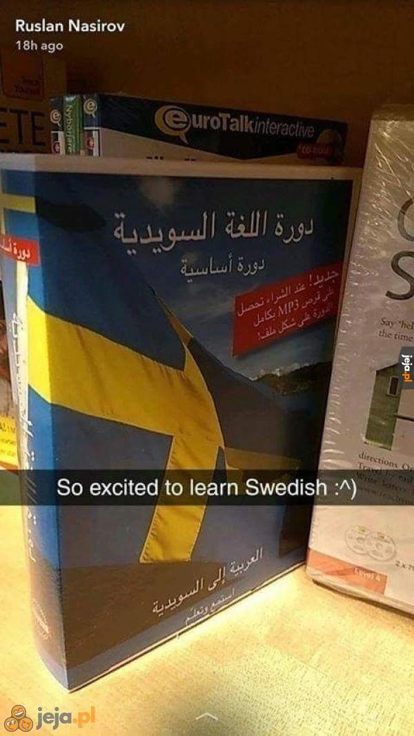 W końcu nauczę się szwedzkiego!