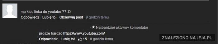 Macie link do YouTube?