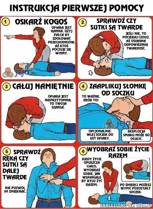 Instrukcja pierwszej pomocy