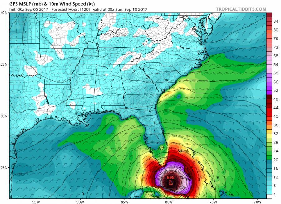 Irma baraszkuje z Florydą