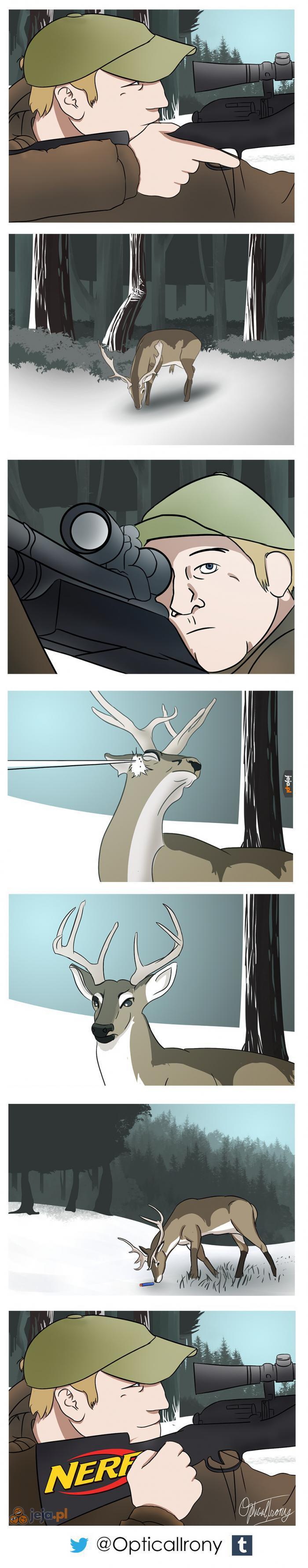 Krótki komiks o polowaniu