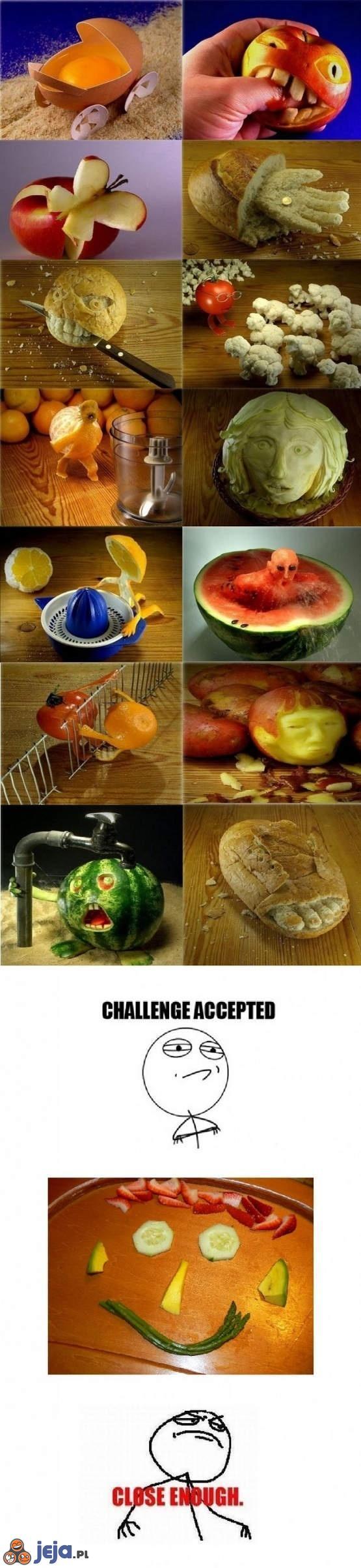 Artystyczne jedzenie