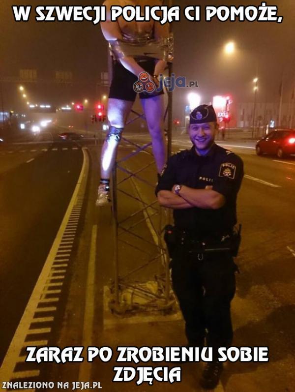 Policja na ratunek! Ale najpierw focia