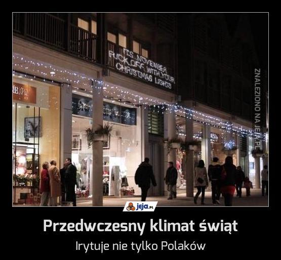Przedwczesny klimat świąt