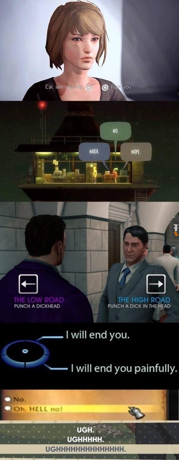 Każdy wybór w grach ma znaczenie?