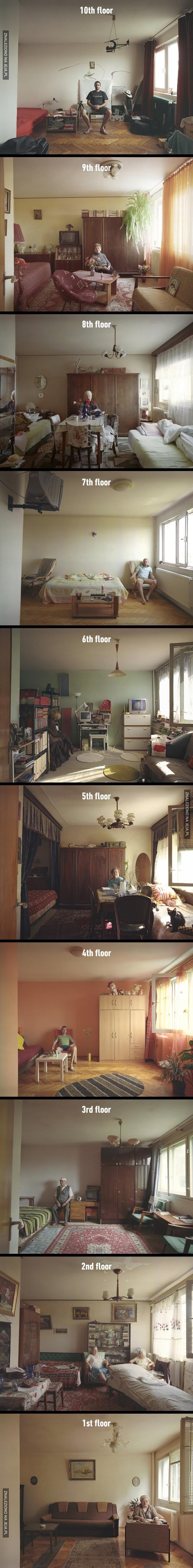 Jak żyją różni ludzie w identycznych mieszkaniach