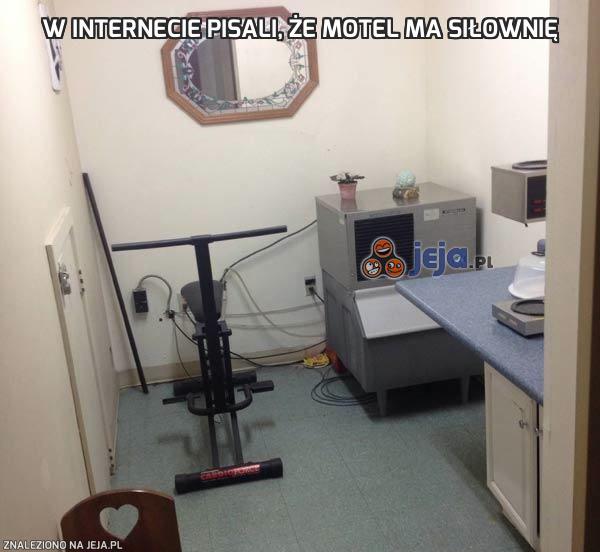 W internecie pisali, że motel ma siłownię