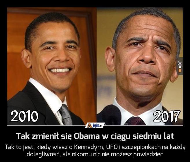 Tak zmienił się Obama w ciągu siedmiu lat