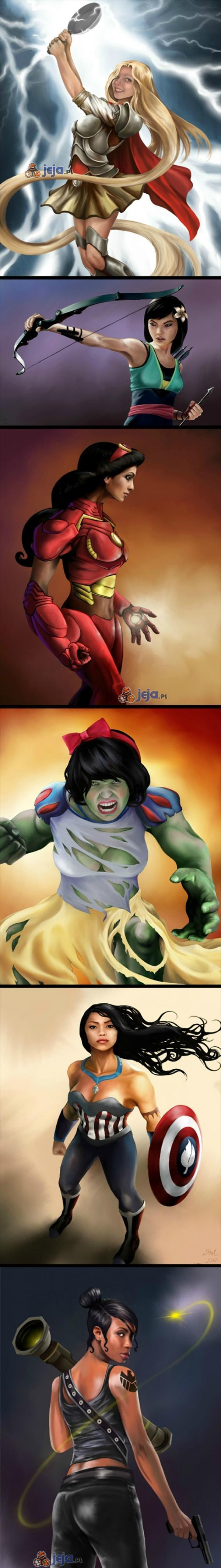 Księżniczki jako Avengersi