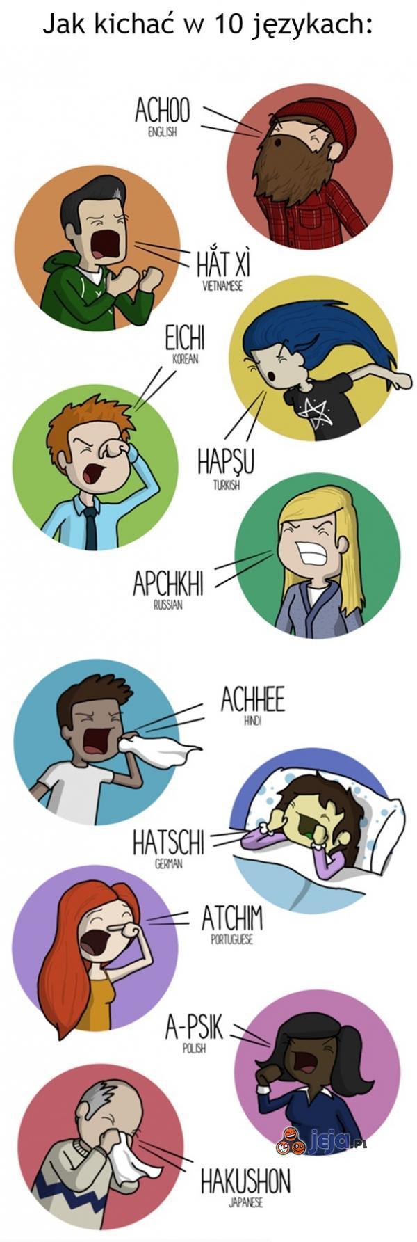 Jak kichać w 10 językach