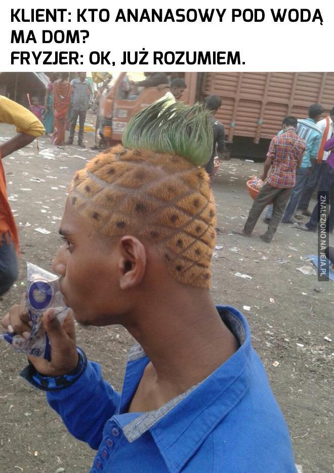 Fryzura prawdziwego fana