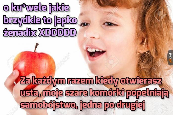 Współczesna młodzież załamuje nawet jabłka