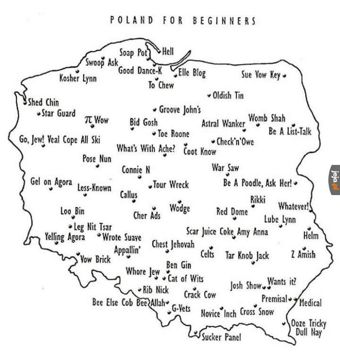 Jak nauczyć Anglika mapy polski