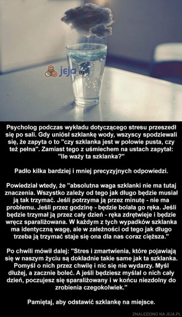 Problemy w szklance wody