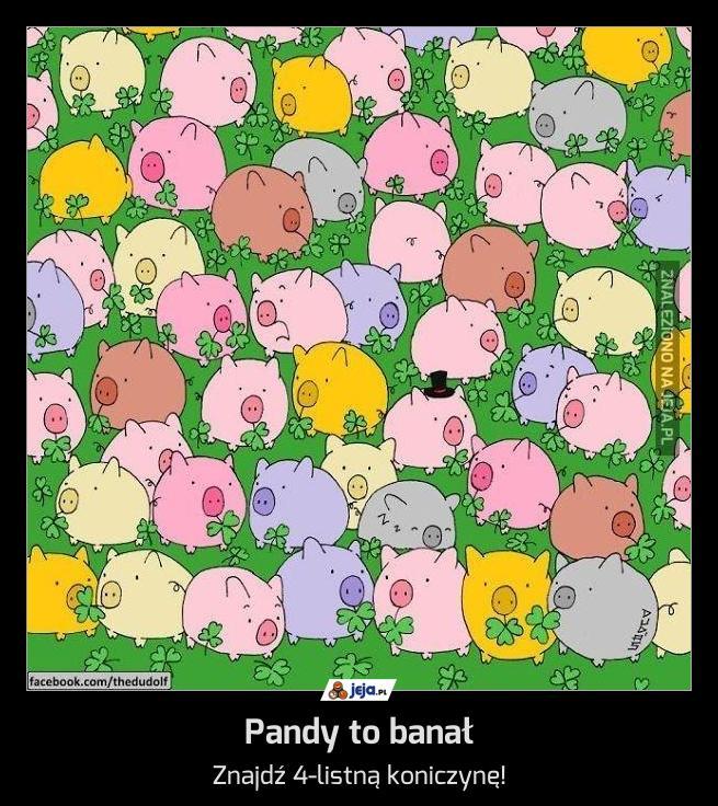 Pandy to banał