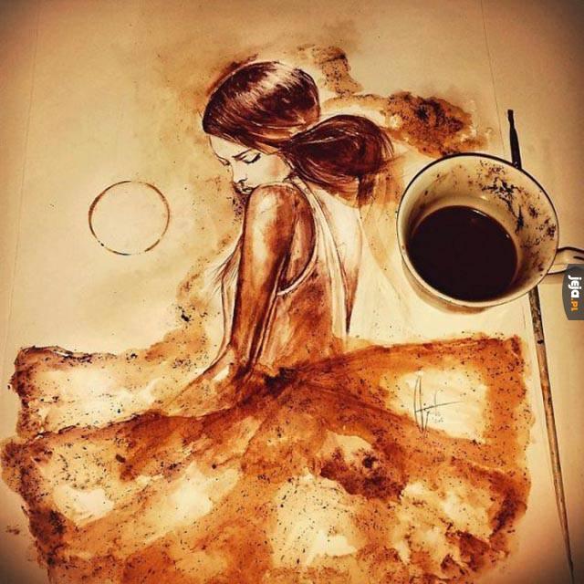 Bo malować można nawet kawą