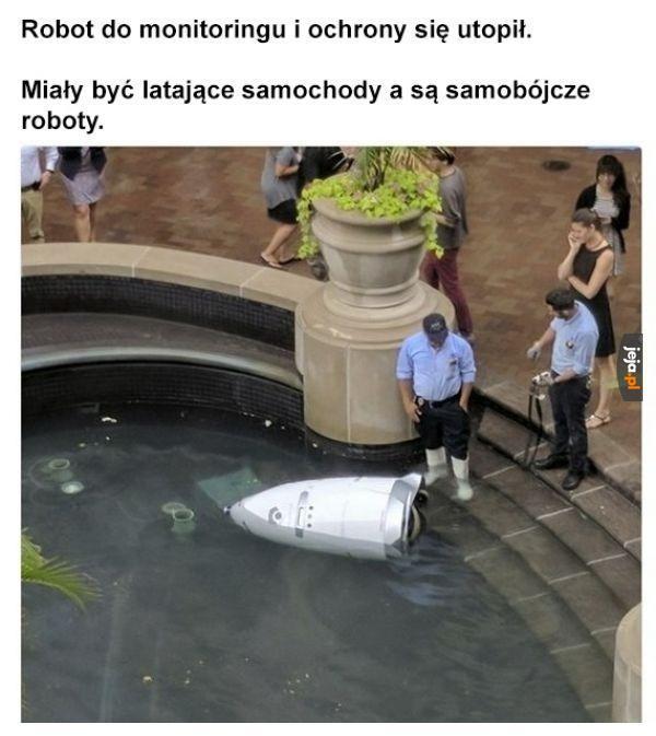 Robot do monitoringu się utopił