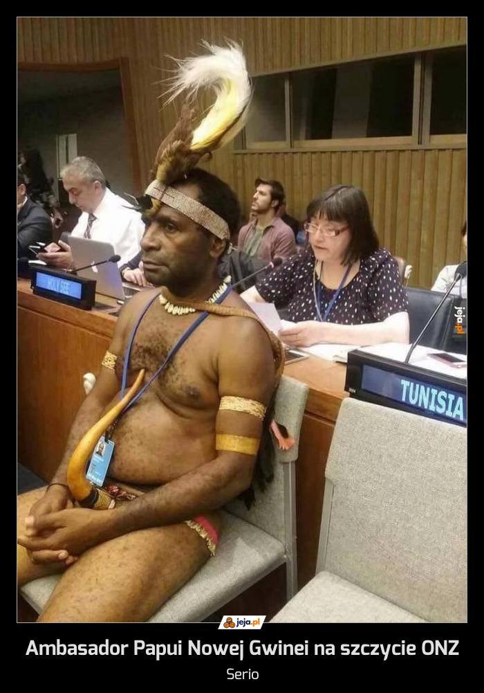 Ambasador Papui Nowej Gwinei na szczycie ONZ