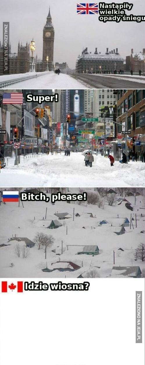Nastąpiły wielkie opady śniegu