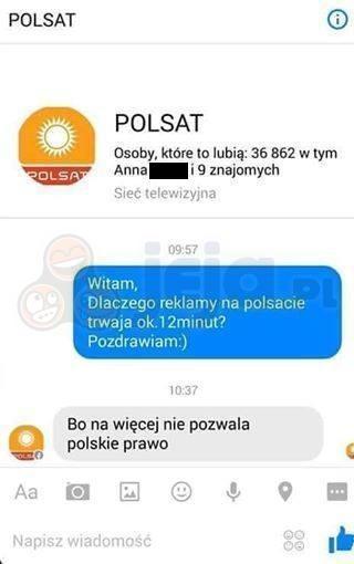 Dlaczego reklamy w Polsacie trwają ok. 12 minut?