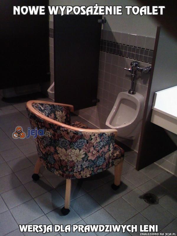 Nowe wyposażenie toalet