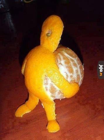 Że niby nie podniosę mandarynki?