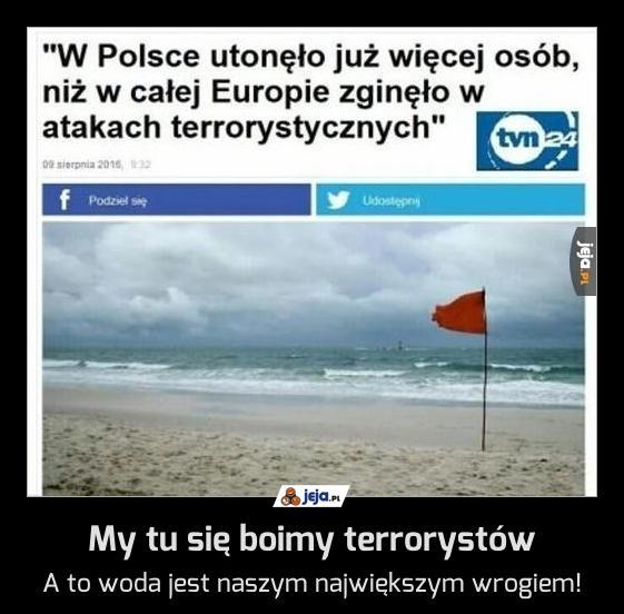 My tu się boimy terrorystów