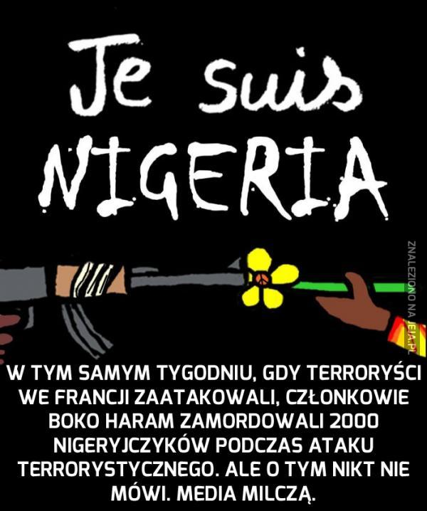 Terroryści we Francji? A co z Nigerią?