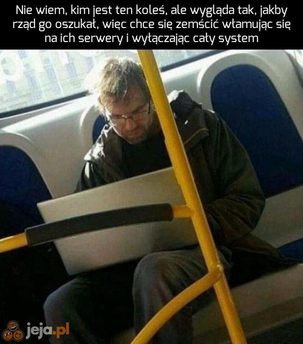 Haker w tramwaju
