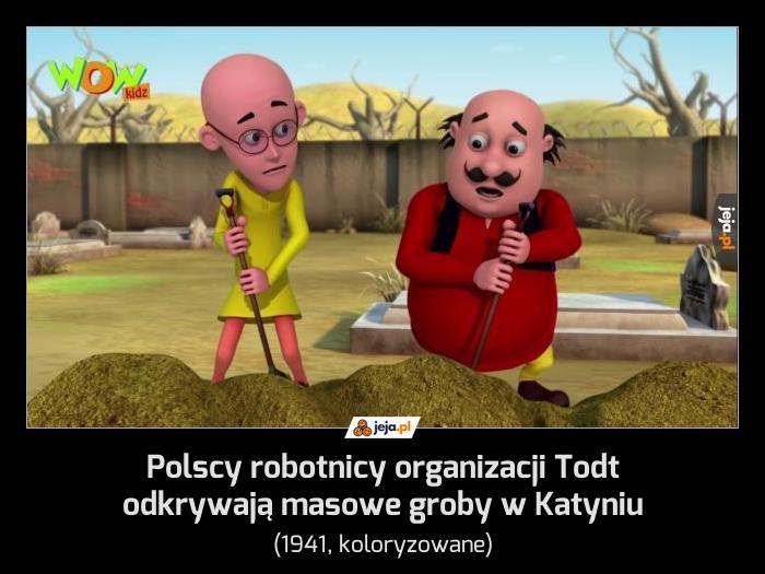 Polscy robotnicy organizacji Todt odkrywają masowe groby w Katyniu