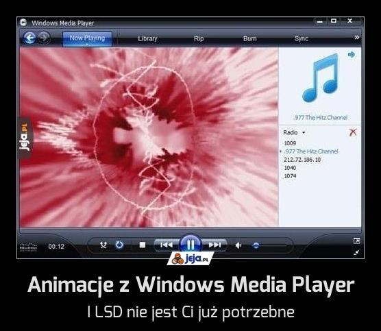 Animacje z Windows Media Player