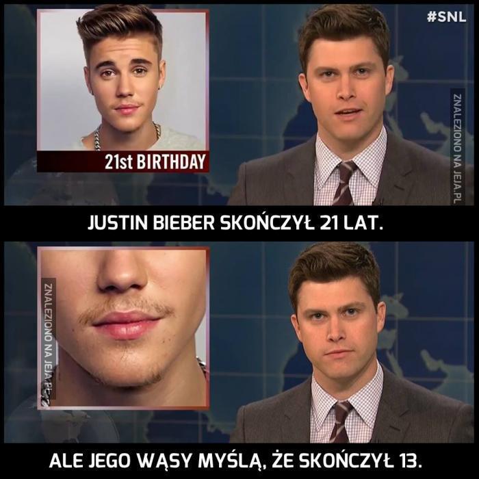 Justin taki dojrzały...