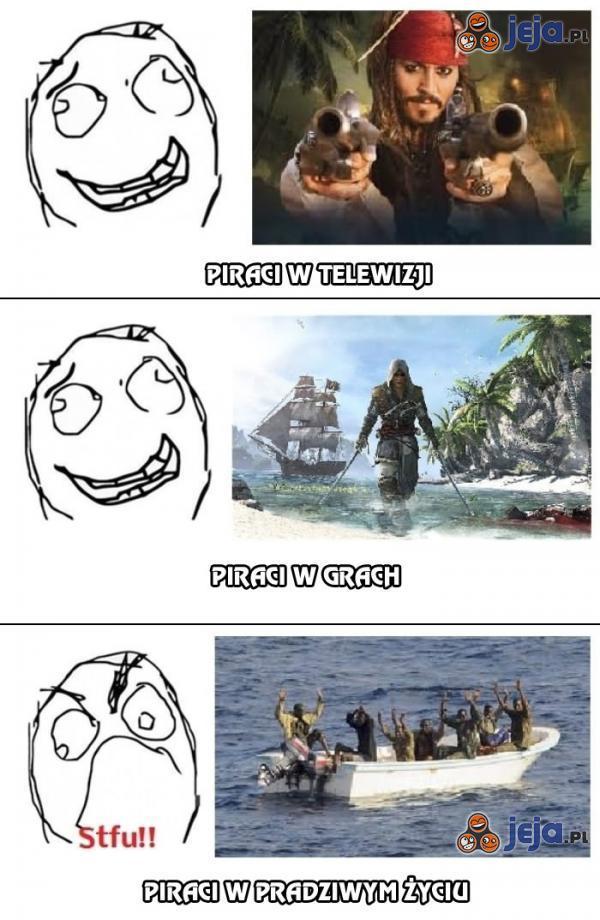 Piraci w prawdziwym życiu