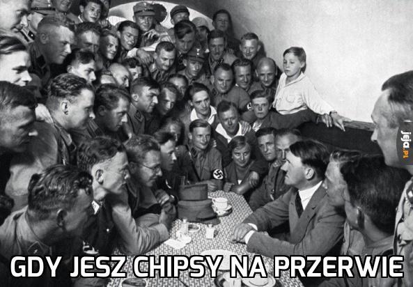 Gdy jesz chipsy na przerwie
