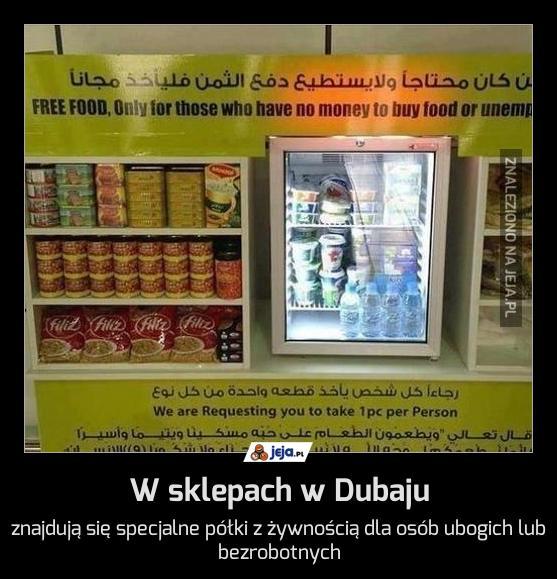 W sklepach w Dubaju