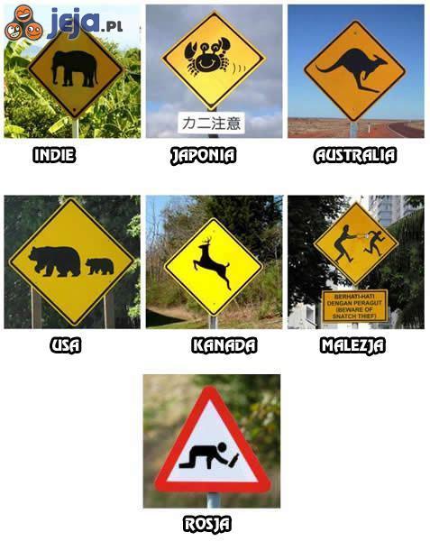 Specyficzne znaki drogowe
