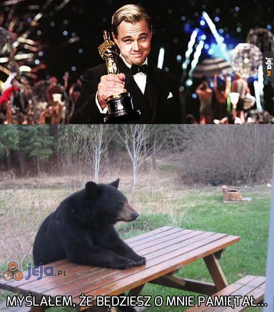 Leo, zapomniałeś podziękować miśkowi!