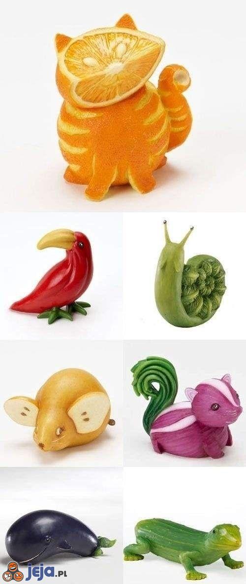 Zwierzaki z warzyw