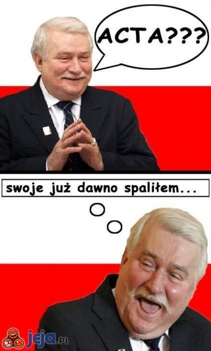Lech Wałęsa o ACTA