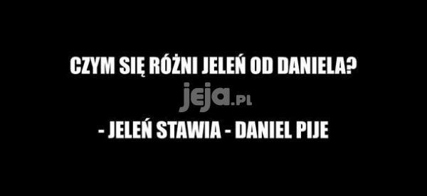 Czy się różni Jeleń od Daniela?
